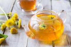 Lemon, cinnamon, star anis , mint tea. In pot stock photography