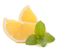 Lemon or citron citrus fruit slice Stock Image