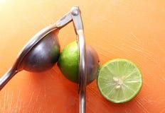 Lemon with citrus juicer Royalty Free Stock Photos