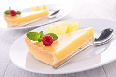 Lemon citrus tart Royalty Free Stock Photos