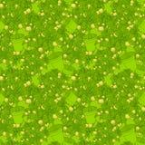 Lemon citrus tree in pot. Wallpaper seamless pattern. Stock Images