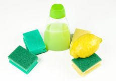 Lemon and cleaning products Stock Image
