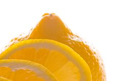 Lemon close up Royalty Free Stock Photo