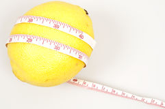 Lemon and cm ruler Stock Image