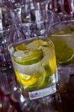 Lemon cocktail drink Stock Photos