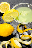 Lemon cocktail drink Royalty Free Stock Photo