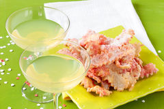 Lemon Cocktail And Fritters Stock Images