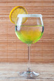 Lemon cocktail in a glass Royalty Free Stock Image