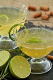 Lemon cocktail. Royalty Free Stock Image