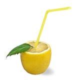 Lemon cocktail on white Royalty Free Stock Photo