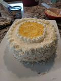 Lemon Coconut Cake royalty free stock image