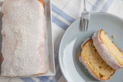 Lemon Coconut Cake Stock Photos