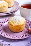 Lemon and coconut cakes Stock Images