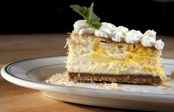 Lemon Coconut Cheesecake Royalty Free Stock Images