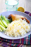 Lemon and coconut rice Royalty Free Stock Images