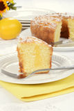 Lemon coffee cake Stock Image