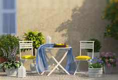 Lemon composition on the balcony Royalty Free Stock Image