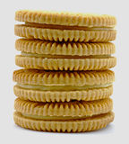 Lemon cookie stack Royalty Free Stock Photos