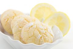 Lemon cookies Royalty Free Stock Image