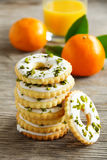 Lemon cookies with frosting Royalty Free Stock Images