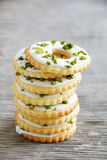 Lemon cookies with frosting Stock Images