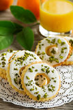 Lemon cookies with frosting Stock Photo