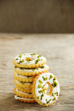 Lemon cookies with frosting Royalty Free Stock Photography