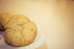 Lemon cookies on a serving plate Royalty Free Stock Photos