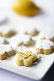 Lemon Cookies with sugar icing Royalty Free Stock Image