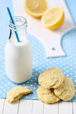 Lemon cornmeal cookies Stock Images