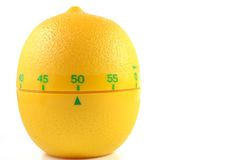 Lemon countdown timer Stock Photos