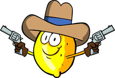 Lemon cowboy with gun Stock Photo