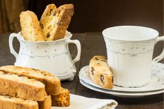 Lemon Cranberry Biscotti Royalty Free Stock Images