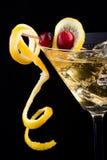 Lemon and cranberry splash coc Stock Photography
