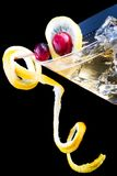 Lemon and cranberry splash cocktail Stock Photo