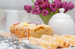 Lemon Cream Cheese Cake Royalty Free Stock Photography