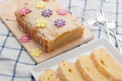 Lemon Cream Cheese Cake Royalty Free Stock Image