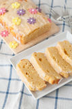 Lemon Cream Cheese Cake Stock Photos