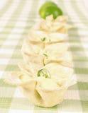 Lemon cream desert Royalty Free Stock Image