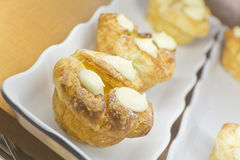 Lemon Cream Puff Stock Image