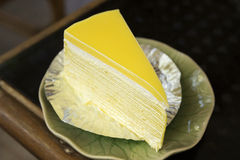 Lemon crepe cake Stock Photography