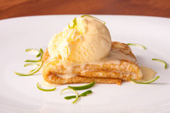 Lemon Crepe Dessert Royalty Free Stock Images