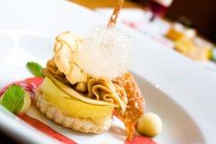 Lemon Crusted Dessert stock photo