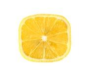 Lemon cube slice background. Royalty Free Stock Photos