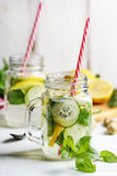 Lemon and cucumber drink Stock Image