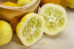 Lemon cucumbers Royalty Free Stock Photos