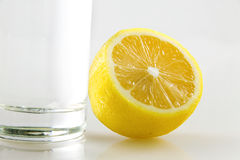 Lemon and cup Royalty Free Stock Image