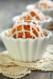 Lemon cupcake closeup. Royalty Free Stock Image
