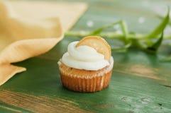Lemon cupcake Stock Images