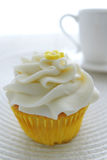 Frosted Lemon Cupcake Stock Photos